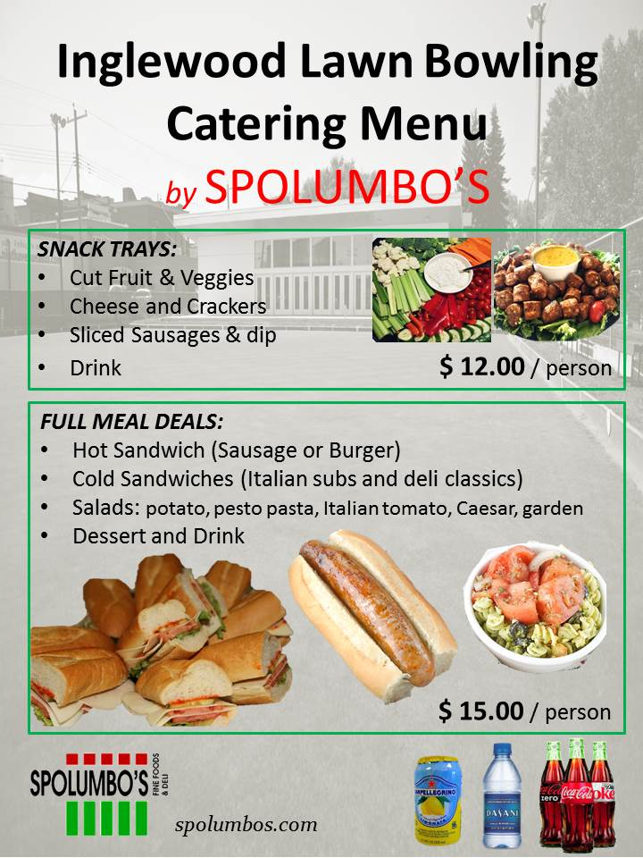 Spolumbo's catering menu